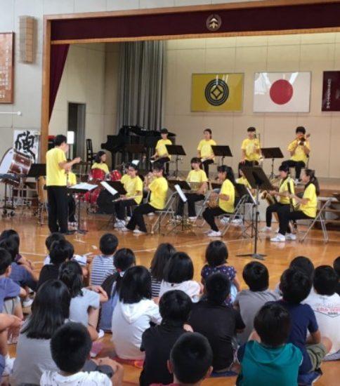 芝中学校吹奏楽部がやってきた‼️