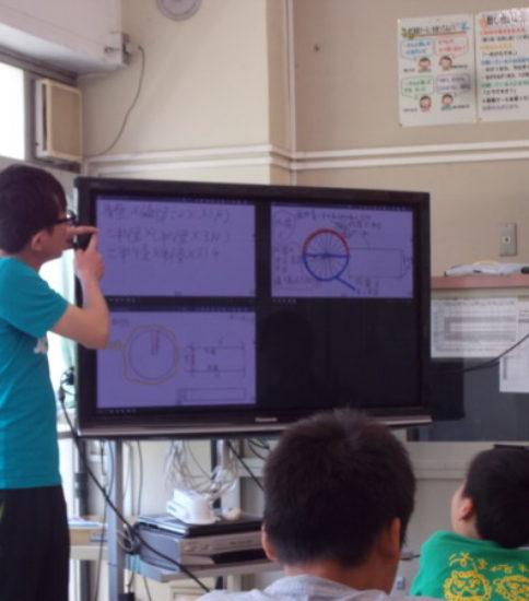 タブレットを使用した授業