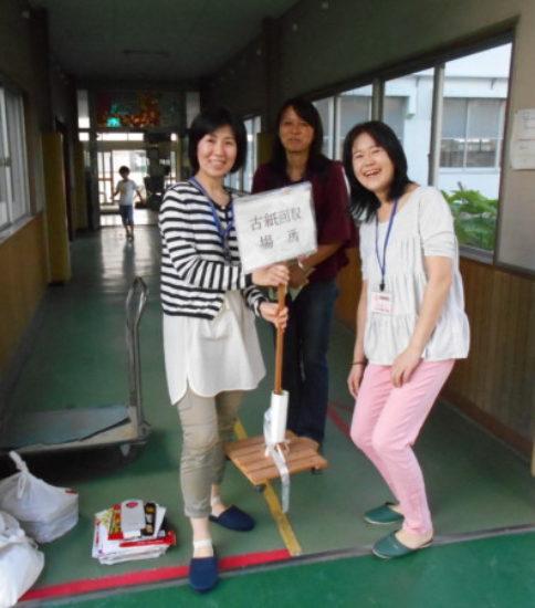 9月27日 古紙回収→古紙引きとり
