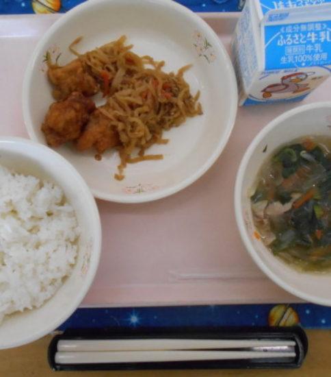 今日の給食【2月19日(月)】