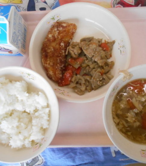 今日の給食【2月22日(木)】