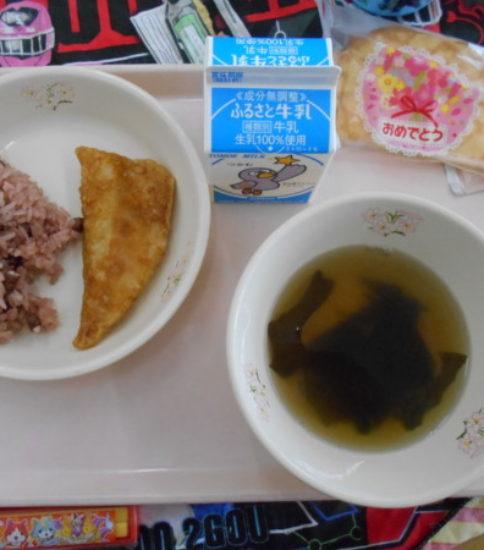 今日の給食【3月19日(月)】