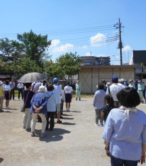 芝富士町会防災訓練が行われました。