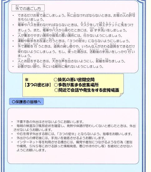 新型コロナウイルス感染予防のために4.28